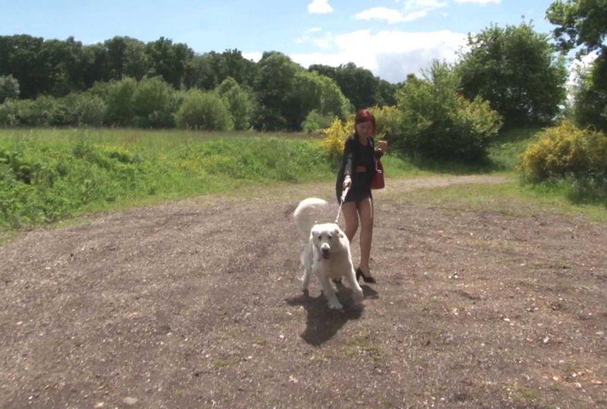 Maman nous propose de la rejoindre pendant qu'elle ballade son chien pour la baiser dans le dos de son mari ! (vidéo exclusive)